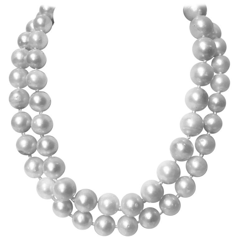 South Sea Cultured Pearls Necklace For Sale