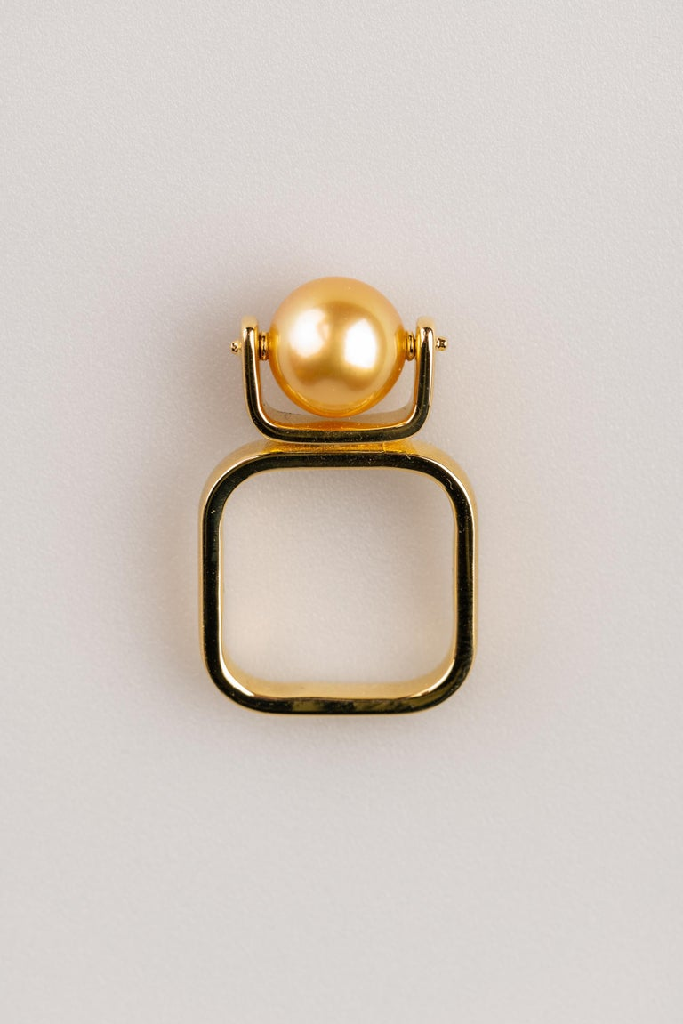 Bead South Sea Golden Pearl Ring For Sale