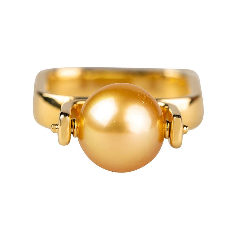 South Sea Golden Pearl Ring For Sale