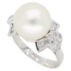 South Sea Pearl and Diamond Cocktail Ring