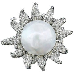 South Sea Pearl and Diamond Ring by Tony Duquette