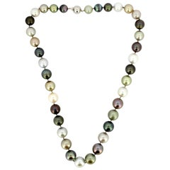 South Sea Pearl Bead Necklace with 14 Karat Gold Clasp