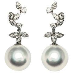 South Sea Pearl Diamond Earrings