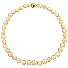 South Sea Pearl Diamond Gold Necklace