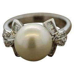 South Sea Pearl Diamond Gold Ring