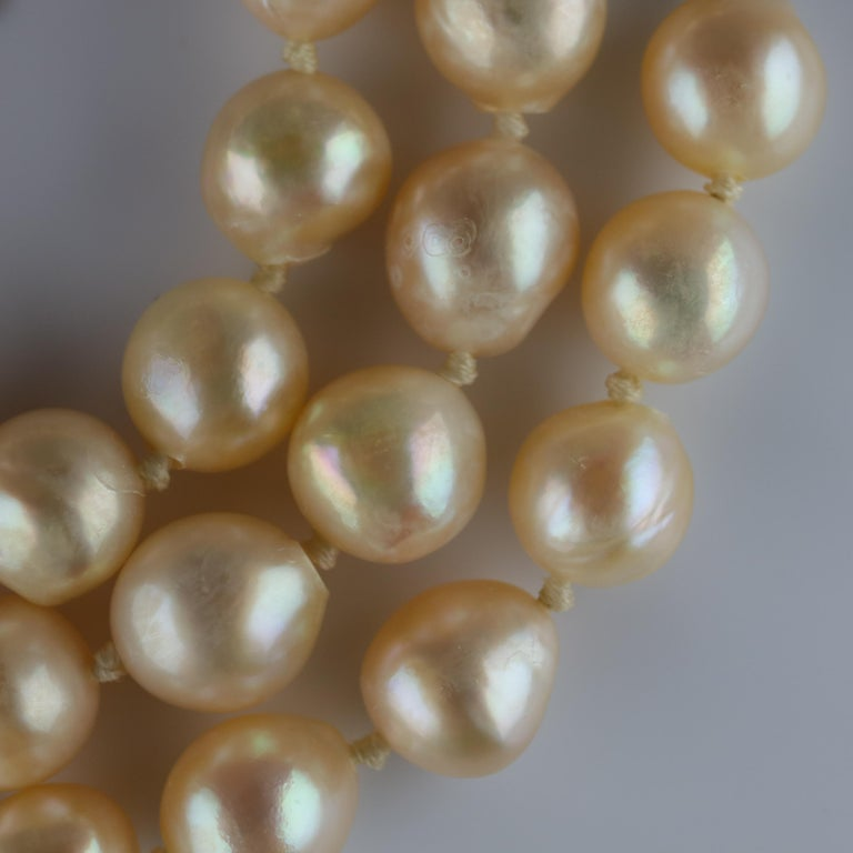 South Sea Pearl Necklace, circa 1960s For Sale 6