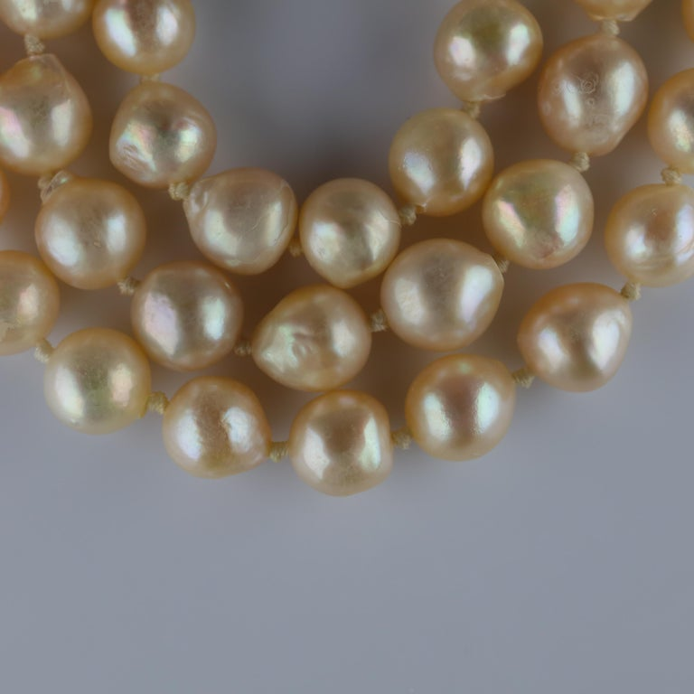 South Sea Pearl Necklace, circa 1960s For Sale 7