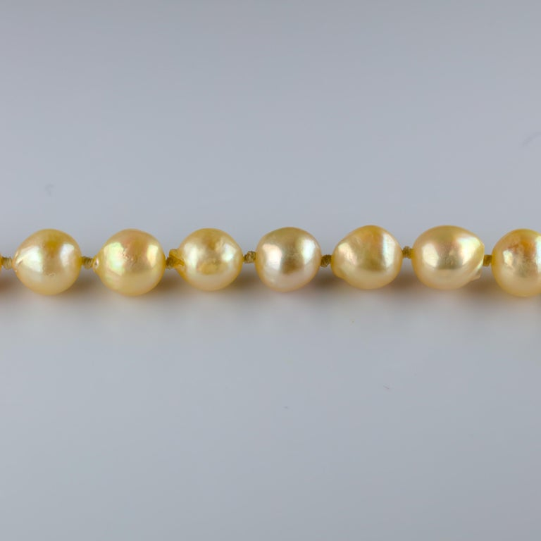 South Sea Pearl Necklace, circa 1960s For Sale 1