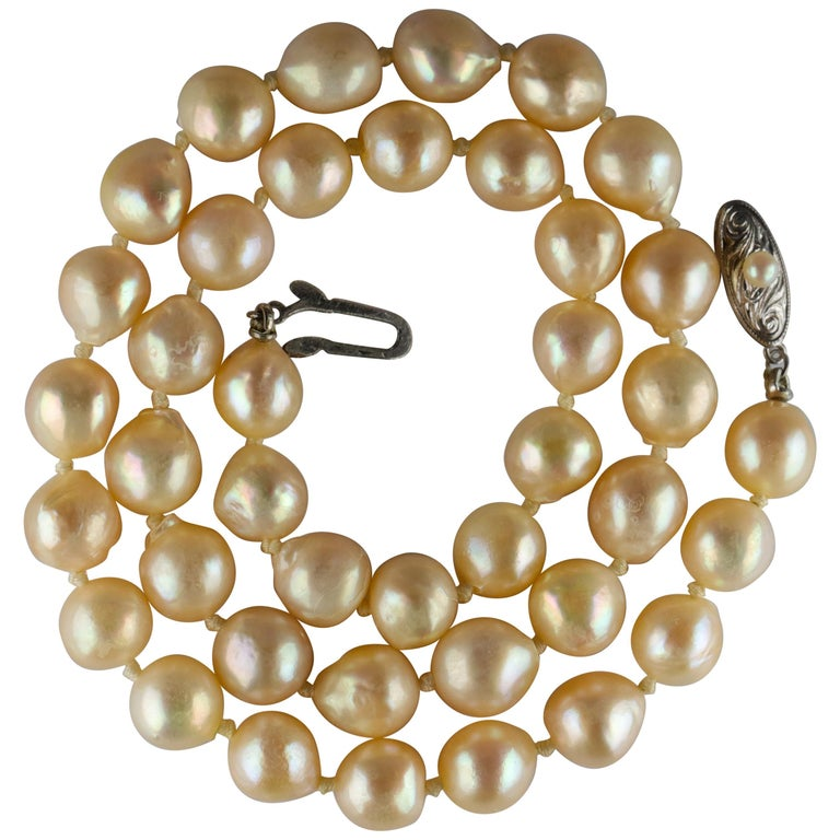 South Sea Pearl Necklace, circa 1960s For Sale