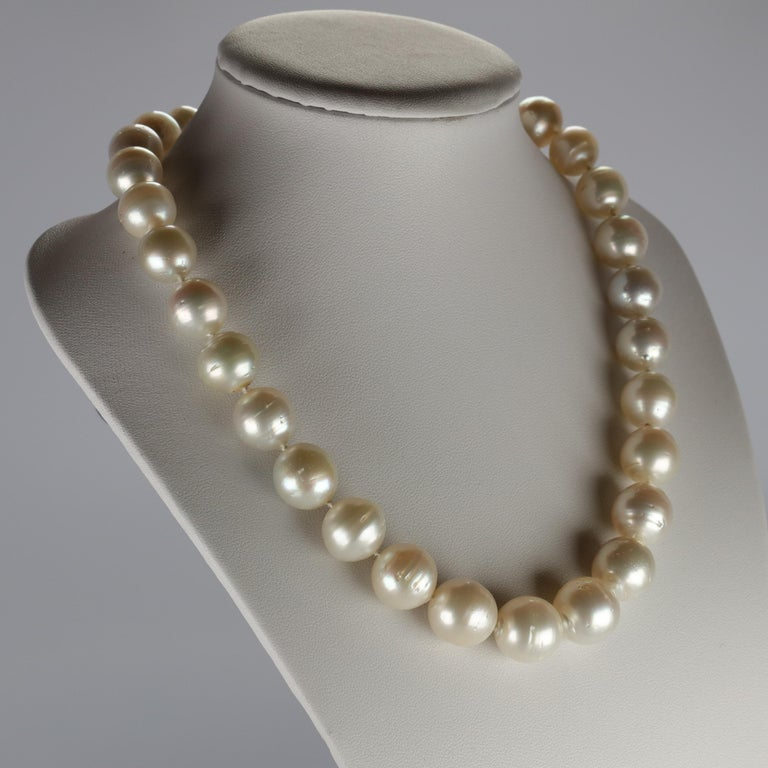 Contemporary South Sea Pearl Necklace Princess Length Large Pearls For Sale