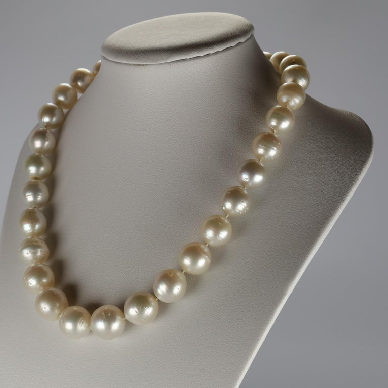 South Sea Pearl Necklace Princess Length Large Pearls In New Condition For Sale In Southbury, CT