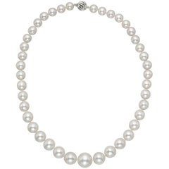 South Sea Pearl Necklace with 18 Karat White Gold Clasp