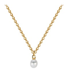 South Sea Pearl Necklace with Ancient-Style Hand Wrought Gold Chain