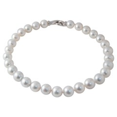 South Sea Pearl Necklace with Claps Diamonds on White Gold 18 Karat