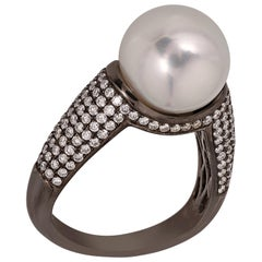 BELPEARL South Sea Pearl Ring Set in 18 Karat Gold