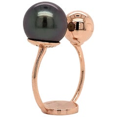 South Sea Pearl with Rose Gold 18 Karat Fashion Ring