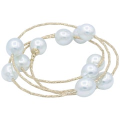 South Sea Pearl Wrap Around Flexible Bracelet