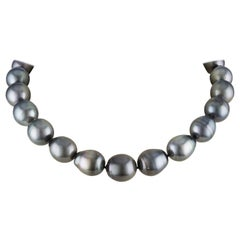 South Sea Tahitian Baroque Cultured Pearl Choker Necklace