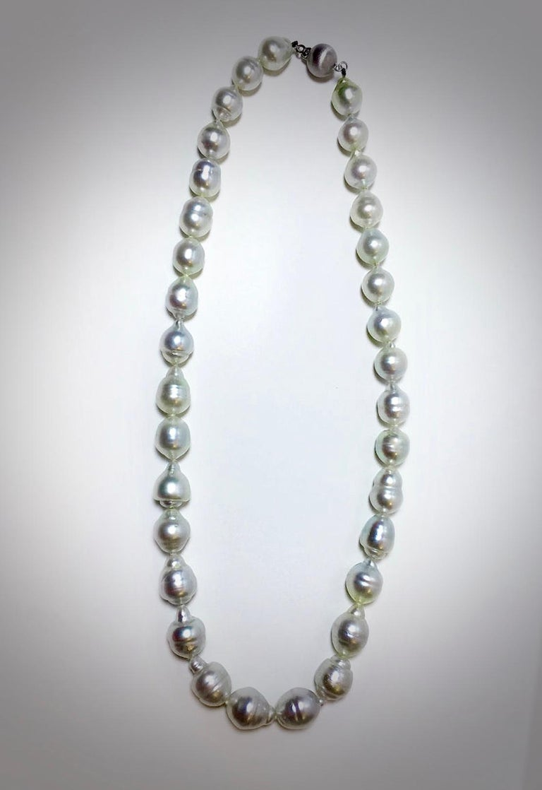 Contemporary South Sea White Baroque Pearls Necklace For Sale