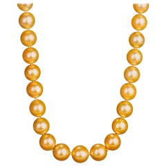 South Sea White to Golden Ombred Pearl Necklace