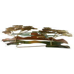 South West Metal Wall Sculpture by J Waner