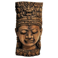 Southeast Asian Carving of a Goddess