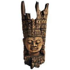 Southeast Asian Carving of Goddess