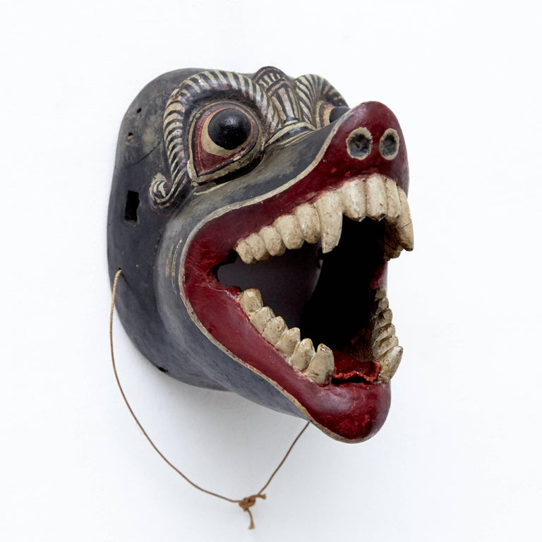 Asian Southeast East of Asia Mask from the 20th Century For Sale
