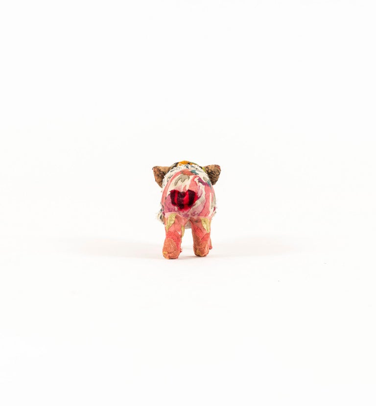 Southern Beasts Piglet II by Mary Lou Marks  Mary Lou Marks is mother hen and artist to Southern Beasts. She meticulously embellishes each creature with carefully selected quality antique fabrics, needlepoint, tapestries dating back to the 1800