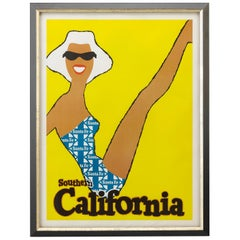 Southern California Santa Fe Railway Travel Poster