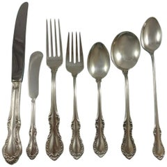 Southern Colonial by International Sterling Silver Flatware Service 12 Set 94 Pc