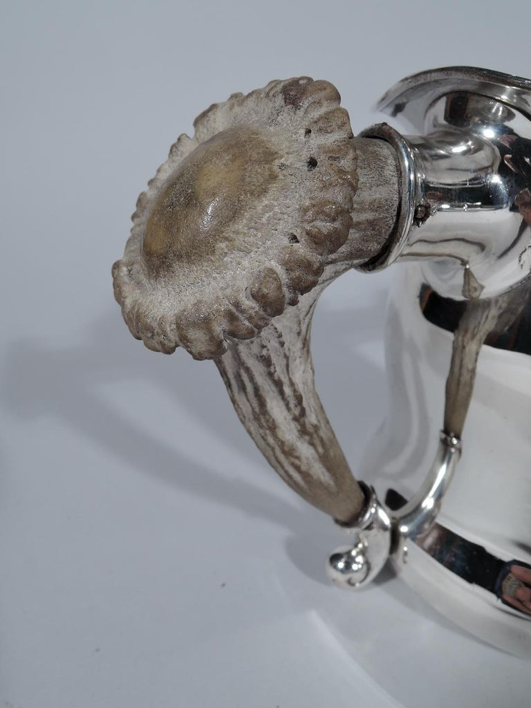 Southern Judaica—Gorham Antler Trophy with Hebrew-Style Inscription In Excellent Condition For Sale In New York, NY