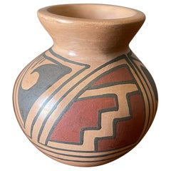 Southwestern Mata Ortiz Pottery Mini Pot Signed RRR by Reydesel Reyes Roque
