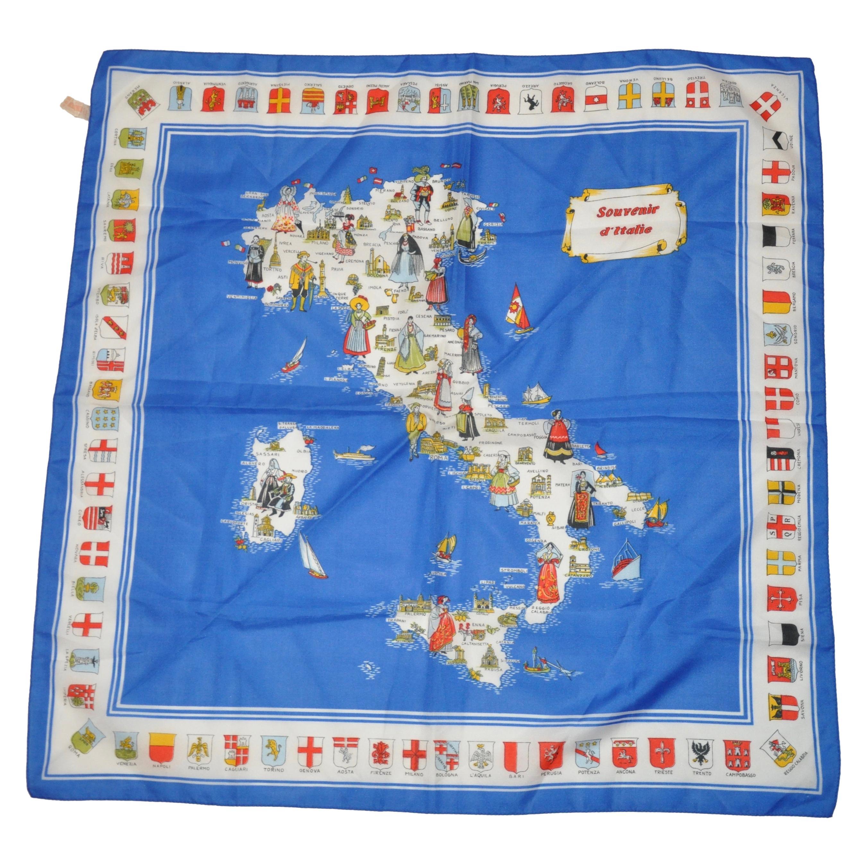 Souvenir d'Italie With Royal Flags Borders Scarf