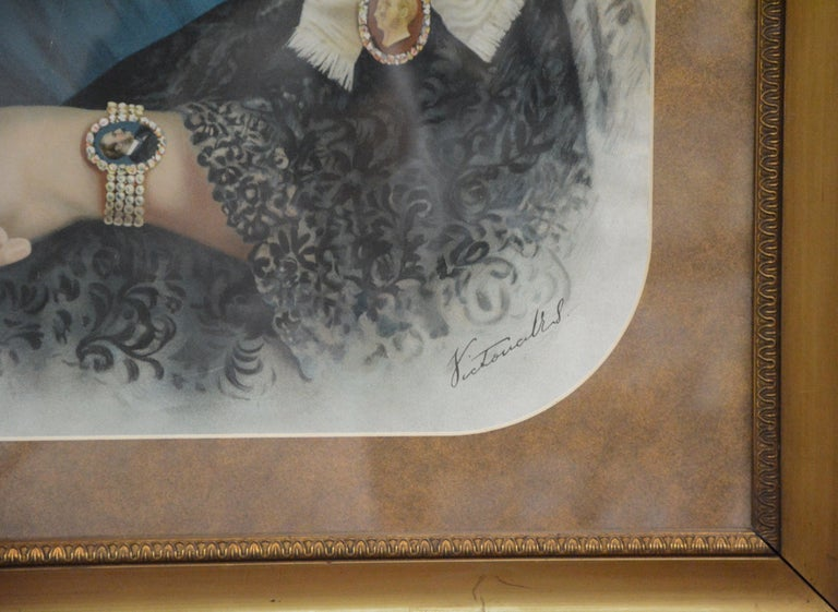 Souvenir Portrait Lithograph of Her Most Gracious Majesty Queen Victoria Framed For Sale 1