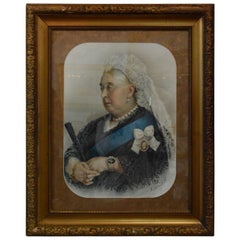 Souvenir Portrait Lithograph of Her Most Gracious Majesty Queen Victoria Framed