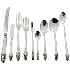 Sovereign Old by Gorham Sterling Silver Flatware Set 8 Service 81 Pieces Acorn