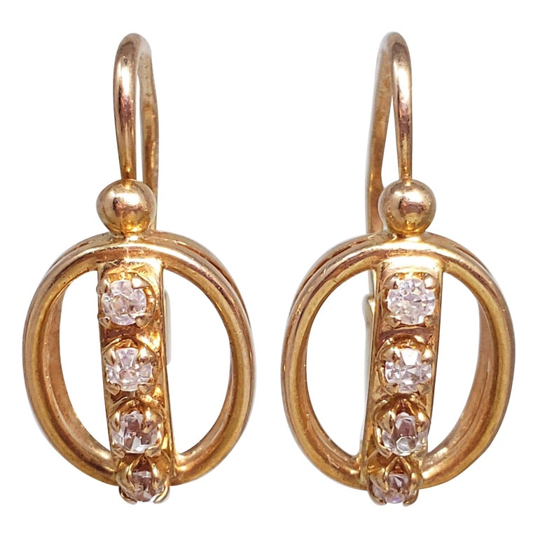Soviet Malachite Earrings Made in the USSR-1970