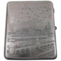 Soviet-Era Russian Silver Kremlin Cigarette Case