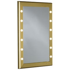 SP Gold Rectangular Lighted Wall Mirror