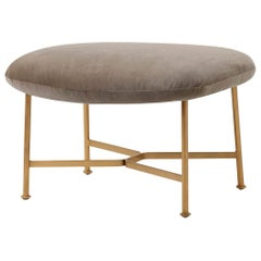 SP01 Caristo Ottoman in Mink Fabric by Tim Rundle