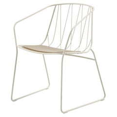 SP01 Chee Chair with Arms in White, Made in Italy