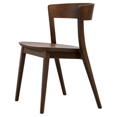 SP01 Clarke Chair in Walnut Stained Ash, Made in Italy