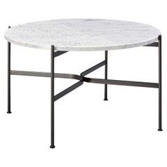 SP01 Jeanette Medium Coffee Table in White Carrara Marble, Made in Italy