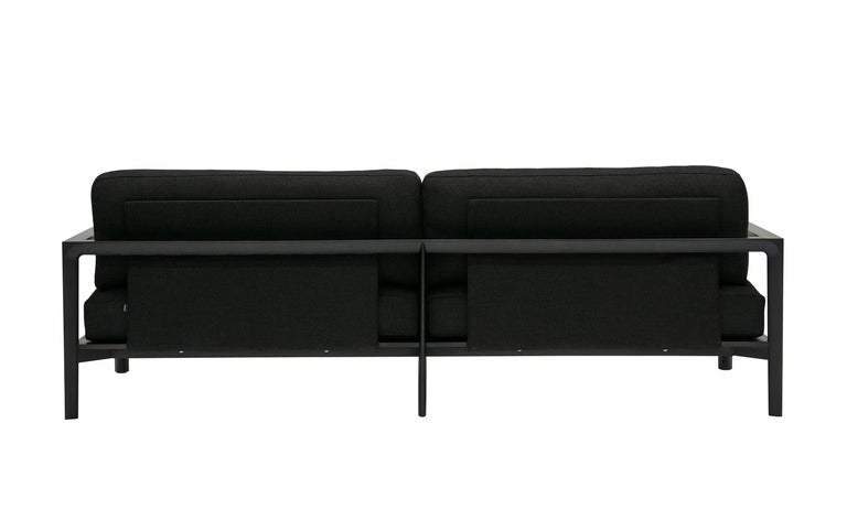 SP01 Ling Sofa -Timber Frame, Upholstered Black Lisbon Leather, Made in Italy In New Condition For Sale In Sydney, NSW