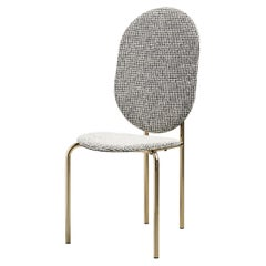 SP01 Michelle High Back Chair in Gold Chrome, Made in Italy