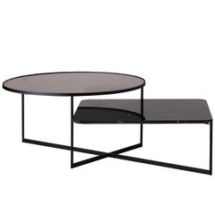 SP01 Mohana Large Coffee Table in Black Marquina Marble, Made in Italy