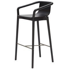 SP01 Thomas Bar Stool High in Carbon Stained Ash by Metrica