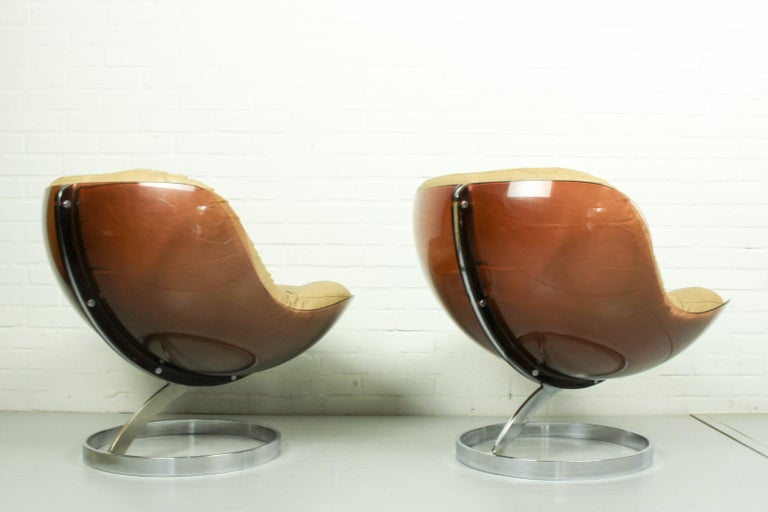 Faux Leather Space Age Armchairs