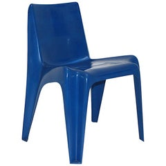 Space Age Blue Vintage Bofinger Chair BA 1171 by Helmut Bätzner, 1960s, Germany